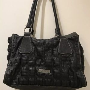 Jessica Simpson Black Textured Handbag